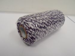 Dark Purple & White 2 metres or Full 100m Roll 1mm Bakers Twine Rope String Thread Cord White and stripe